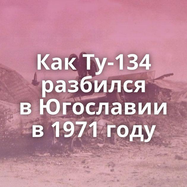 КакТу-134 разбился вЮгославии в1971 году