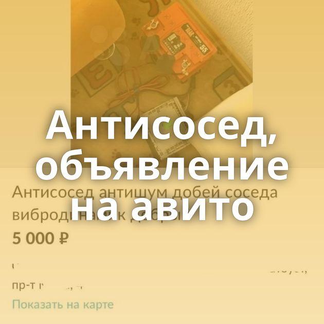 Антисосед, объявление на авито