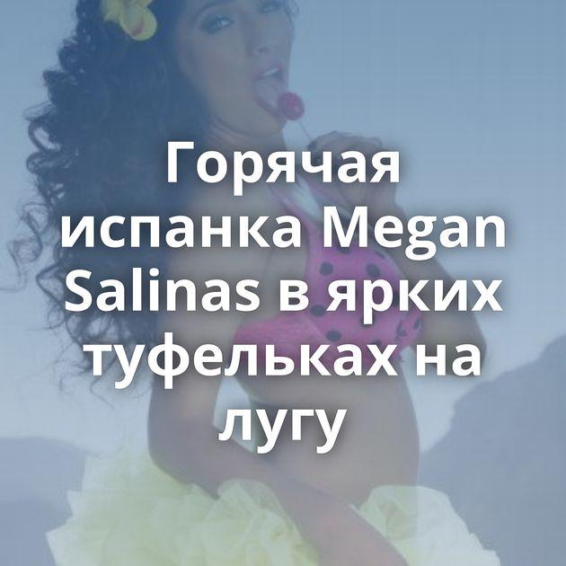 Горячая испанка Megan Salinas в ярких туфельках на лугу