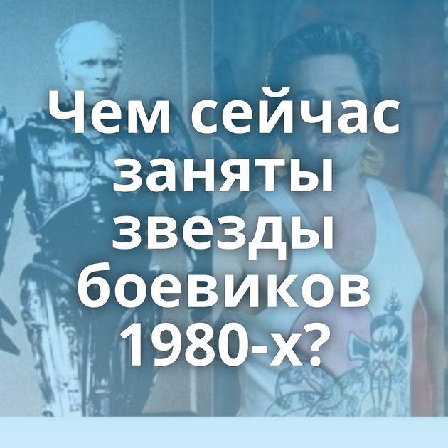 Чемсейчас заняты звезды боевиков 1980-х?