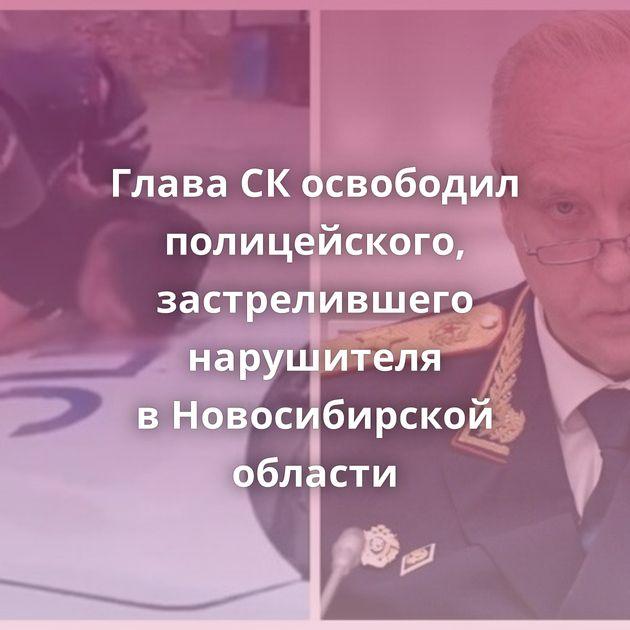 Глава СКосвободил полицейского, застрелившего нарушителя вНовосибирской области