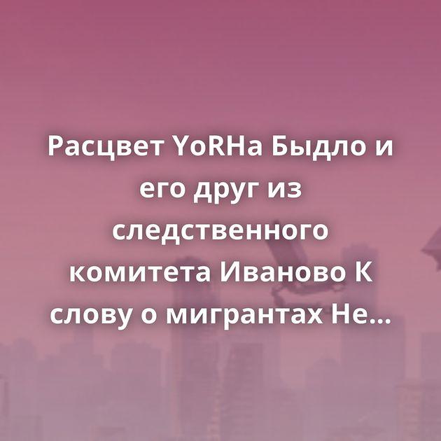 Расцвет YoRHa Быдло и его друг из следственного комитета Иваново К слову о мигрантах Не надо Анонимная помощь.…