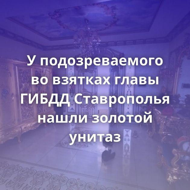 Уподозреваемого вовзятках главы ГИБДД Ставрополья нашли золотой унитаз