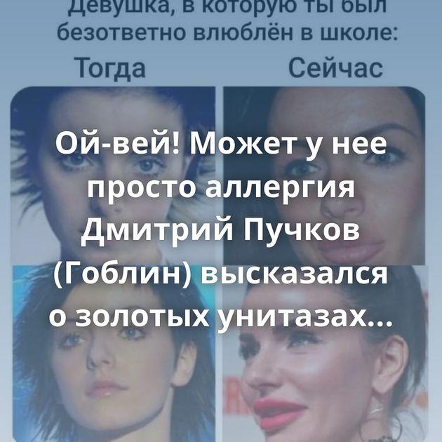 Ой-вей! Может у нее просто аллергия Дмитрий Пучков (Гоблин) высказался о золотых унитазах ГИБДД Невский…