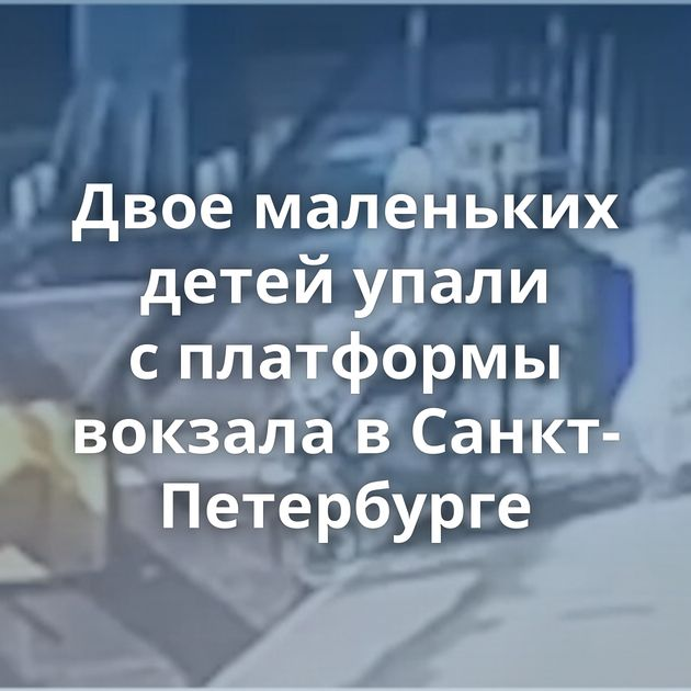 Двое маленьких детей упали сплатформы вокзала вСанкт-Петербурге