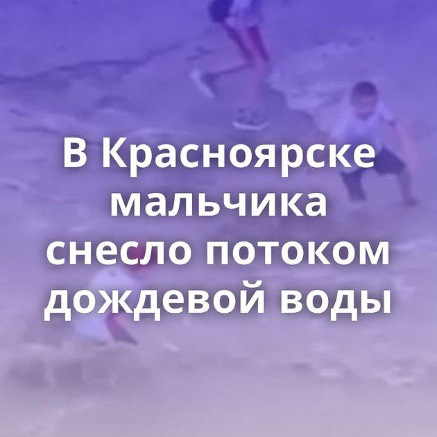 ВКрасноярске мальчика снесло потоком дождевой воды