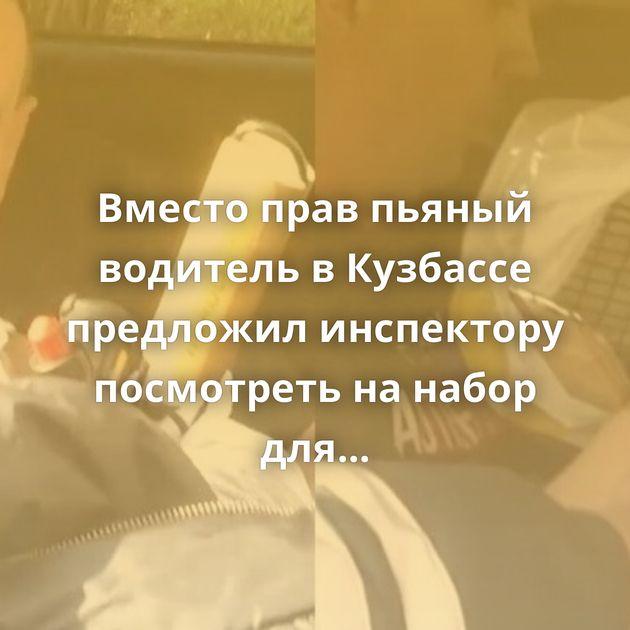 Вместо прав пьяный водитель вКузбассе предложил инспектору посмотреть нанабор длябарбекю
