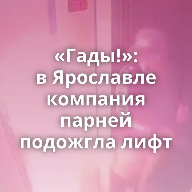 «Гады!»: вЯрославле компания парней подожгла лифт