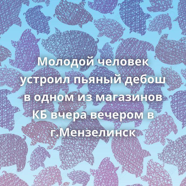 Молодой человек устроил пьяный дебош в одном из магазинов КБ вчера вечером в г.Мензелинск