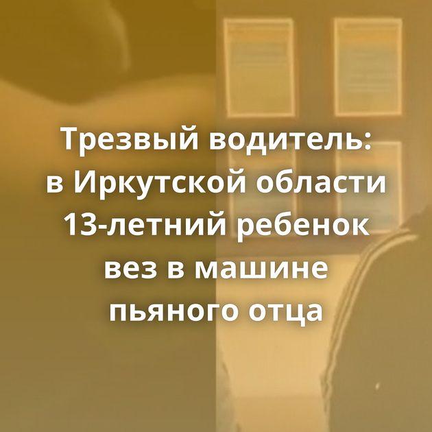 Трезвый водитель: вИркутской области 13-летний ребенок везвмашине пьяного отца