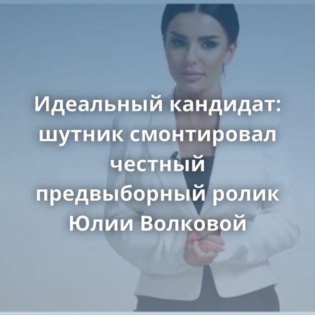 Идеальный кандидат: шутник смонтировал честный предвыборный ролик Юлии Волковой