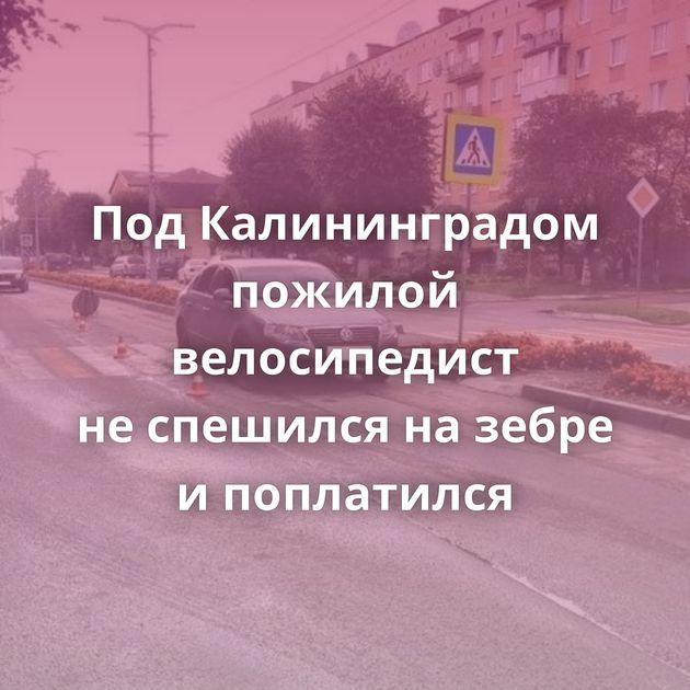 ПодКалининградом пожилой велосипедист неспешился назебре ипоплатился