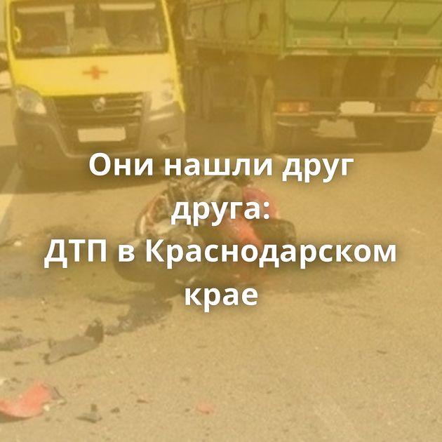 Онинашли друг друга: ДТПвКраснодарском крае