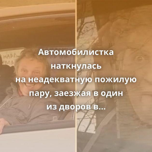 Автомобилистка наткнулась нанеадекватную пожилую пару, заезжая водин издворов вНовосибирской области
