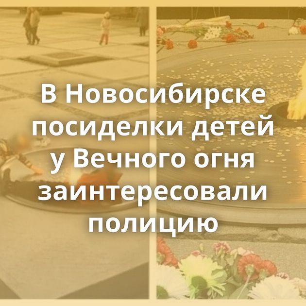ВНовосибирске посиделки детей уВечного огня заинтересовали полицию