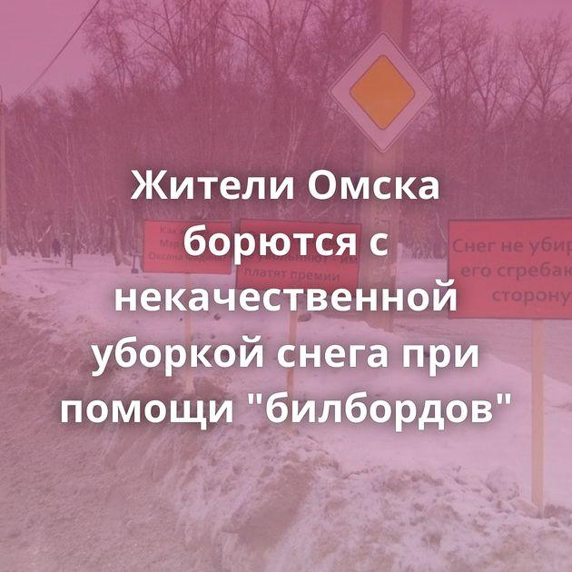 Жители Омска борются с некачественной уборкой снега при помощи