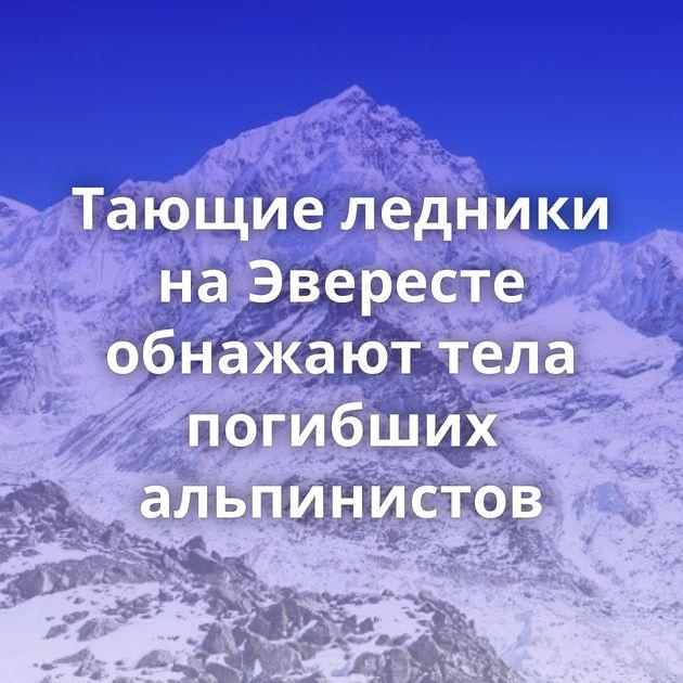 Тающие ледники наЭвересте обнажают тела погибших альпинистов