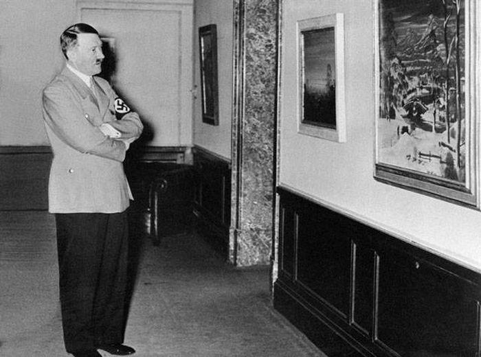 Гитлер художник картинки