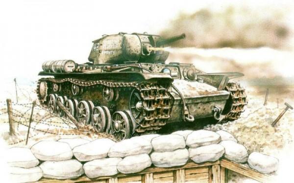 192часа вокруженных танках. Огнеметные КВ-8, потеряв ход, несколько дней отбивались отнемцев Интересное